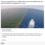 Photo shows gulf, mississippi river don't mix-mostly truth!
