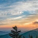Places to determine amazing smoky mountain tops sunset & sunrise