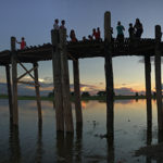 Watch the sunset in myanmar