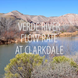 Verde River Flow Rate at Clarkdale, Arizona
