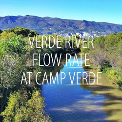 Verde River Flow Rate at Camp Verde, Arizona