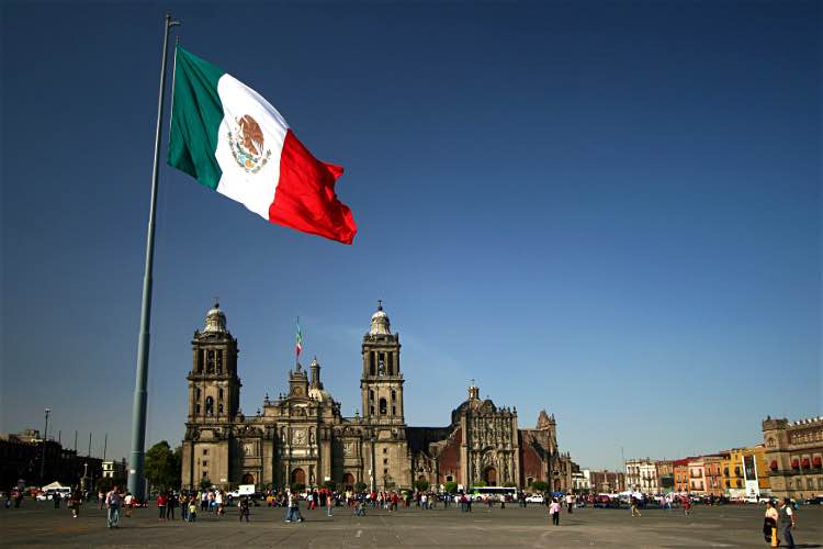 The Zócalo stands at the heart of Mexico City. Image by Tim Yilmaz / Moment / Getty Images