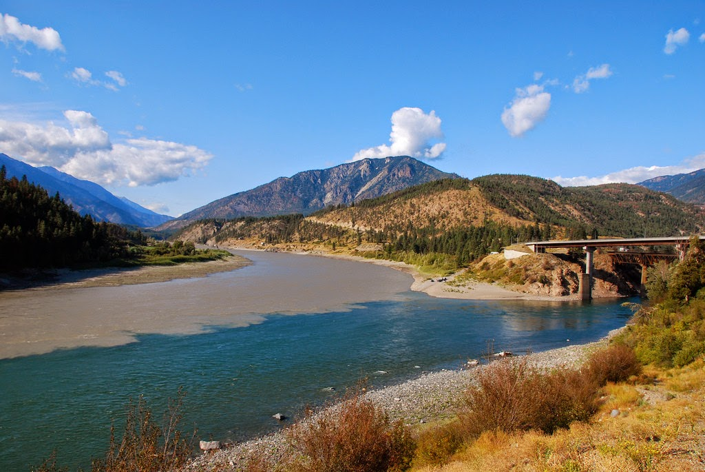 Confluence of the Thompson and Fraser Rivers in Lytton, BC, Canada.