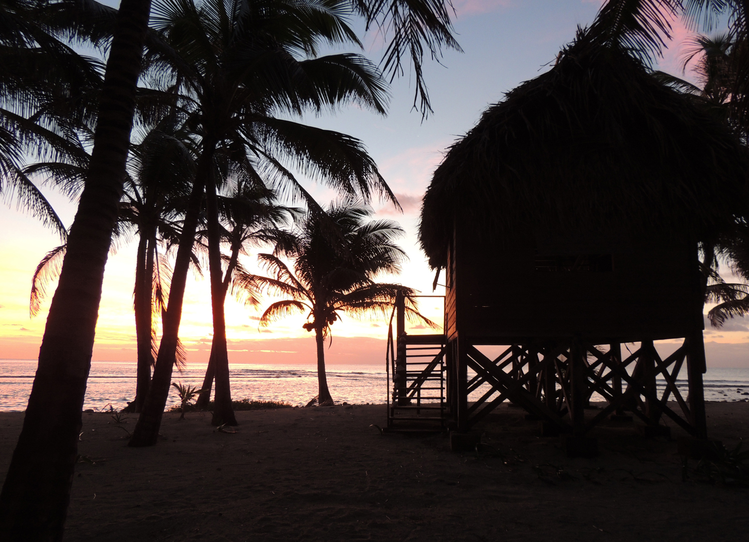 Belize beach cabana