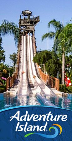 Busch gardens' adventure island waterpark near kissimmee florida slide that swirls you